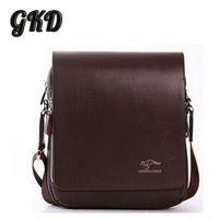 australia bodies - Men s Bag High Grade PU Leather Men Messenger Bag Australia Kangaroo Logo Zipper Shoulder Bags Briefcase A9101