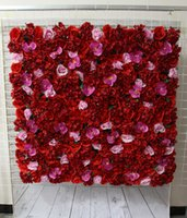 artificial orchid plants - Artificial silk flower wall Hydrangeas roses and orchid wedding background lawn pillar flower road lead home