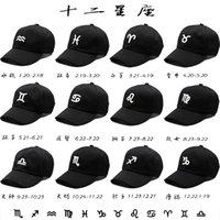Wholesale High quality new twelve constellations fashion baseball cap snapback hats and caps for men women brand sports hip hop flat sun hat