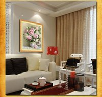 Wholesale 5D DIY Diamond Painting peony Flower D Cross Stitch Diamond Embroidery Flores Embroidery Diamonds Wall Stickers Home Decor