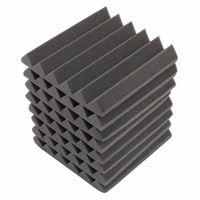 Wholesale 8Pcs x x mm Soundproofing Foam Acoustic Foam Sound Treatment Studio Room Absorption Wedge Tiles Polyurethane foam
