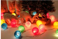 Wholesale Holiday decorations line ball lantern chinlon LED night light room bedroom Christmas decoration lights battery of lamps