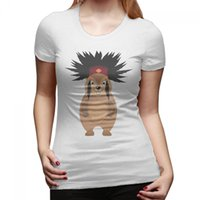 Crew Neck animal groundhog - Womens Groundhog Day Animal Picture Cotton Short Sleeve tshirts