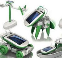 Wholesale pc Solar Power in boys girls DIY dog plane boat shape creative novely fashion toy learn Educational kids toy gift
