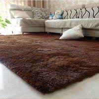 Wholesale 1PCS x120cm Explosion Models Silky Carpet Mats Sofa Bedroom Living Room Anti Slip Floor Carpets Bedroom Soft Mat Home Supplies