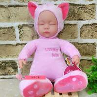 Wholesale CM Music Electric simulation baby plush calm sleep animal rabbit cat creative cute dolls