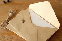 Wholesale NEW Vintage DIY Multifunction Kraft paper envelope cm Gift card envelopes for wedding birthday party