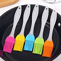 Wholesale 200PCS Silicone Food Brushes Baking Pastry Oil Cream Brush for Bread BBQ Utensil Safety Basting Oil Brush Candy Color