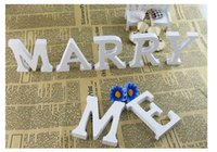 alphabet decorative letters - Top quality Wedding Decorations Wooden Letters White Wood Alphabet Decorative Crafts Table Numbers Home Birthday Party