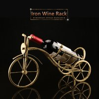 Wholesale Creative Home Decoration Iron Tricycle Wine Rack Classical Wine Decoration Xmas Gift For Bar Home