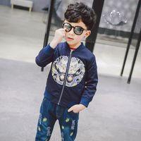 Cheap New hot Korean Spring Boys coat Fashion Cartoon Kids Jackets Toddler Clothing Children Outwear Baby Coats Child Clothes wear Lovekiss A28