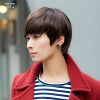 hair wigs for men - New Fashion Handsome Sunshine Boys Short Synthetic Hair Wigs For Men Hair Pad Peluca Perucas Perruque