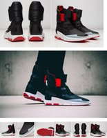 ankle cushion - 2017 Running Shoes Y NOCI Core Black Scarlet White Qasa Sneakers Shoes Boost Y3 High Tops Leather Ankle Boots Outdoor Sport Shoes