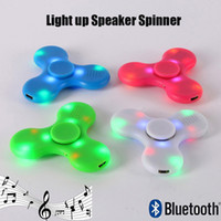 multi color fidget spinner - Newest Hand Fidget Spinner Bluetooth Speaker Light Up LED EDC Toy Finger Decompression Anxiety Stress Reliever Music Player Multi Color
