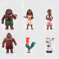 Wholesale Moana Princess Maui Waialik Heihei Action Figures Toy Action Figure Collection Model Toy set Gifts cm TA176