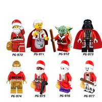 Wholesale Mini Figures Building Blocks ABS Green Plastic Christmas Series Santa Claus Hot toys For Years