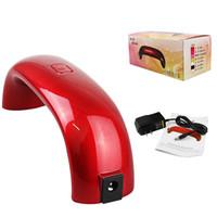 battery enhancer - 2016 Portable W LED Light Bridge shaped Mini Nail Dryer Nail Art Lamp Care Machine for UV Gel USB cable lip plumping enhancer
