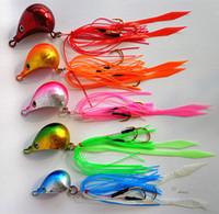Wholesale 5pcs g g g g g g Jig head with fishing lure skirt lead jig lead fish jigging lure metal fishing lure