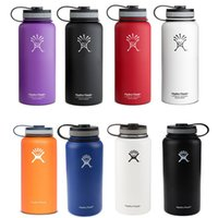 Wholesale DHL oz Hydro Flask Water Bottle with Flat Cap Stainless Steel HYDRO FlASK Mugs