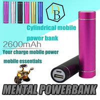 Wholesale Best Selling Universal mAh Cylindrical mobile power bank mAH mobile emergency charging treasure universal power charging device