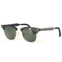 aluminum eyeglasses - Highest Quality CLUB Sunglasses Aluminum Frame Brand Sport Sun Glass Designer Celebrity Eyeglasses UV400 Protect with original box