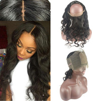 Cheap Silk Base 4x4 360 Lace Band Frontal Closure With Baby Hair Brazilian Body Wave Virgin Hair Ear To Ear 360 Lace Frontal