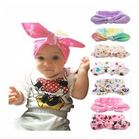 Wholesale Bohemian cotton girl baby bow Headband Wave point Turban Twist Head Wrap Twisted Knot Soft Hair band Headbands Bandanas