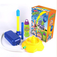 Wholesale Newest Outdoor Sports Toys Ultra stomp rocket Air pressure EVA Toy fun game flying security interactive toys Gifts for boys