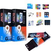 Wholesale Tempered Glass protector Retail package Packaging Boxes bag For Samsung iphone for inch below Tempered Glass Packaging