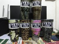 Wholesale DHL colors OZ camouflage YETI cups stainless steel big capacity fashionable car cups beer mugs