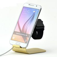 Wholesale Metal Mobile Phone Stand Holder For iPhone S iPhone7 Tablet PC Charger Stand For iWatch iPad Phone Charging Dock