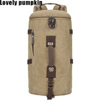 Wholesale 2016 NEW Large capacity man travel bag outdoor mountaineering backpack men bags hiking camping canvas bucket shoulder bag C130
