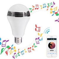 Wholesale Wireless Bluetooth Speaker Smart LED Light Bulbs E27 Dimmable Multicolored Color Changing Lights Desk Light Bar Sinks APP Controlled