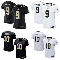 Wholesale Women New football jersey Drew Brees Brandin Cooks Black White Soccer rugby authentic jerseys cheap t shirts