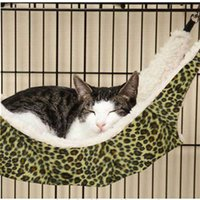 Wholesale Cat hammock Soft Plush Small Animal Pet Hammock Rat Hammock or Cat Hammock Cat Bed Wild animal printed