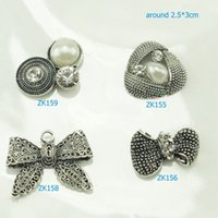 Wholesale Hair Clips Material Accessories Handmade Flat Back Buttons Embellishment
