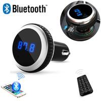 Wholesale Car MP3 Audio Player Bluetooth FM Transmitter With Remote Control Wireless FM Modulator Car Kit HandsFree LCD Screen w TF Slot