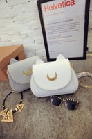 animal moon jellies - The new female Sailor Moon bag pack Black Shoulder Bag Satchel tide cute bags