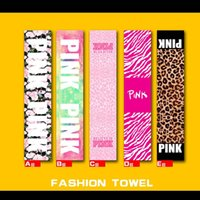 Polyester / Cotton beach badminton - Mat Pink Towel Run Wipe Sweat Towels Badminton Movement Washcloth Leopard Print Bathroom Facecloth Bath Beach Washrag Tide Card ht