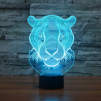 aa lion - 2017 D Lion Night Lamp D Optical Lamp AA Battery DC V Dropshipping