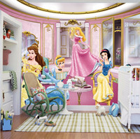 Wholesale papel de parede d photo wallpaper Princess large mural children s room bedroom background cartoon princess girl wall mural