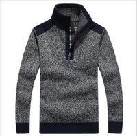 american classics sweaters - Mens Pullover Sweaters Autumn And Winter Casual knitwear Male Pullovers Half Turtleneck Classic Men s Sweaters Wool Sweater