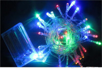 LED Halloween Waterproof 50 LEDS 5M led strip light lamp Xmas Christmas Party String Light bulb Battery Operated twinkling 9 colors New Year Wedding Decorations