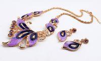 best indian wedding dress - European Style Elegant Crystal Diamond Jewelry Set For Women Best Selling Butterfly Pendant Earrings Necklace Beauty Dress Accessory
