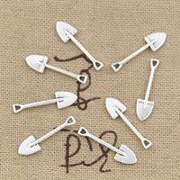 antique shovels - Cents Charms shovel spade gardening mm Antique Making pendant fit Vintage Tibetan Silver DIY bracelet necklace