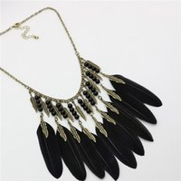 Wholesale 2016 the hottest jewelry sweater chain fashion necklace feathers