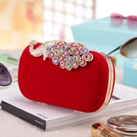 Wholesale latest beauty high class hand bag with stone crystal evening bags with best price