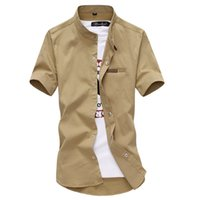 Wholesale 2016 summer new men shirts fashion city Korean version of Slim collar collar short sleeve shirt men shirt