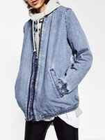 batwing sleeve coat - women Jepanese style embroidery patch denim bomber jacket coat long sleeve pockets casual outwear casual coats ladies punk outwear top capa