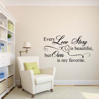 beautiful love art - Every Love Story Is Beautiful Heart Removable Vinyl Words Wall Bedroom Sitting Room Decal Decor Diy